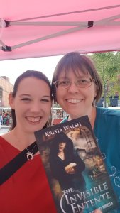 In Ottawa at the Byward Market with the talented Krista Walsh! (That's Krista on the left and me on the right.)